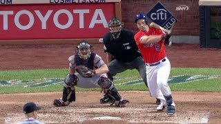 Wright hits head with bat on follow through