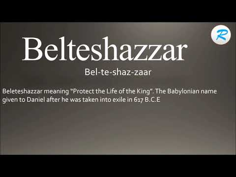 How to pronounce Belteshazzar ; Belteshazzar Pronunciation ; Belteshazzar meaning ; Belteshazzar