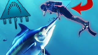 Depth - GIANT SWORD FISH MARLIN IS AWESOME - (Depth Gameplay)
