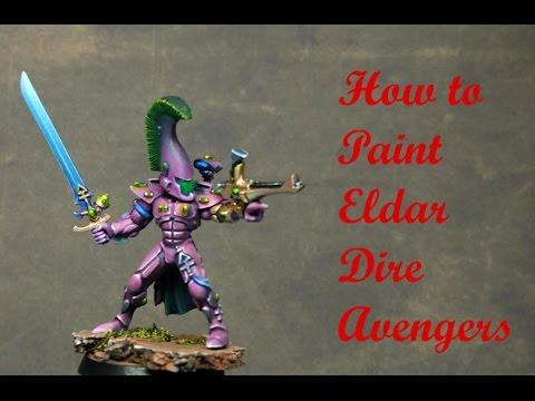 How to paint Eldar Dire Avengers - Painting Tutorial