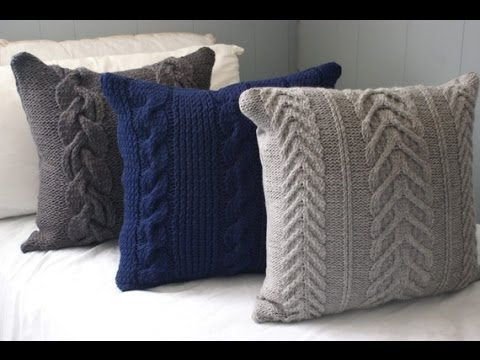 Вязаные подушки, выбираем узор для вязания Pillows