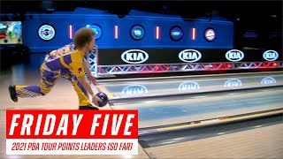 Friday Five - 2021 PBA Tour Competition Points Leaders (So Far)