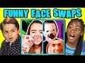 10 FUNNY FACE SWAPS (React)