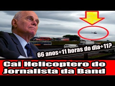 Cai Helicoptero do jornalista da Band