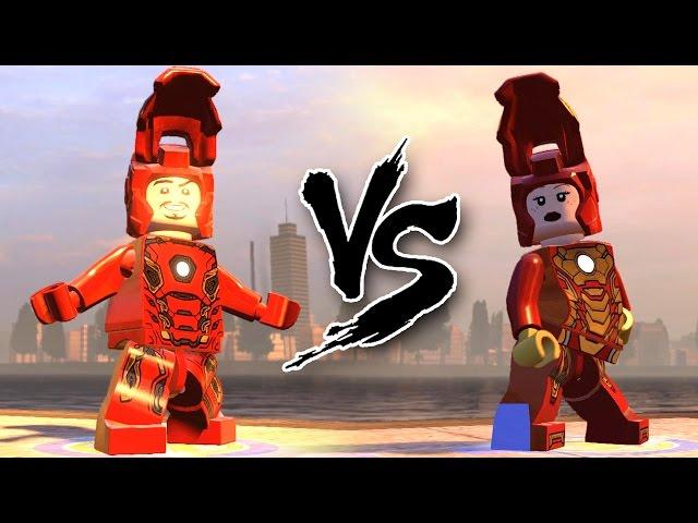 LEGO IRON MAN(MK 45) VS PEPPER POTTS (MK 42) EPIC BATTLE - LEGO MARVEL AVENGERS