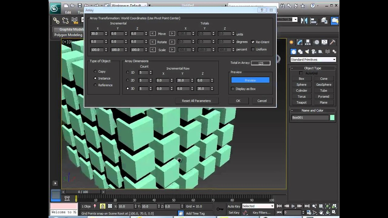 how to make an array of objects