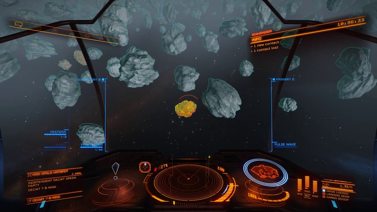Elite Dangerous Mining Void Opals for 50 Million Credits in 47 minutes