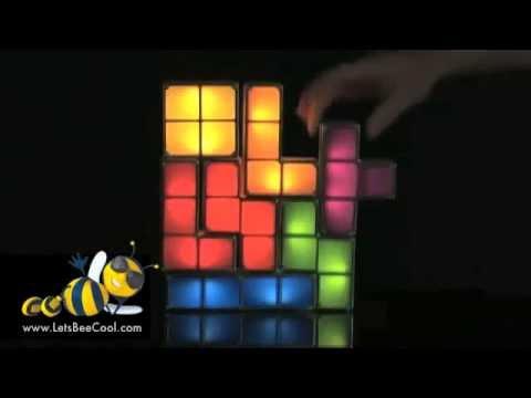 Tetris Stackable LED Desk Lamp - Tetris Stackable LED Desk Lamp - YouTube