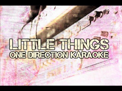One Direction - Little Things - Instrumental Piano Version - (Karaoke) - Lyrics On Screen