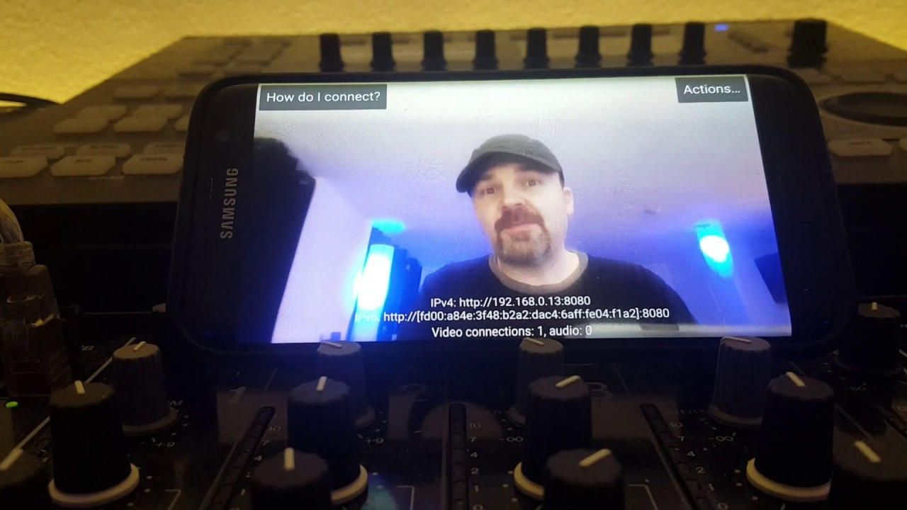 how to use phone as webcam obs