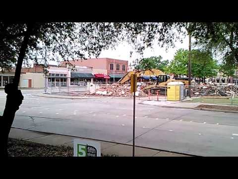 BULLDOZED: Garland Texas, East side of the square in downtown 4-10-2017