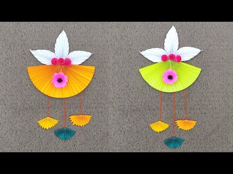 How to Make wall Hanging with paper  | Wall Hanging Craft Ideas With Paper DIY