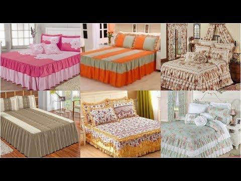 Most Beautiful Frill Bed Sheet Designs/ Elegent Designer Bed Sheet/ Embroidered Bed Sheet Designs