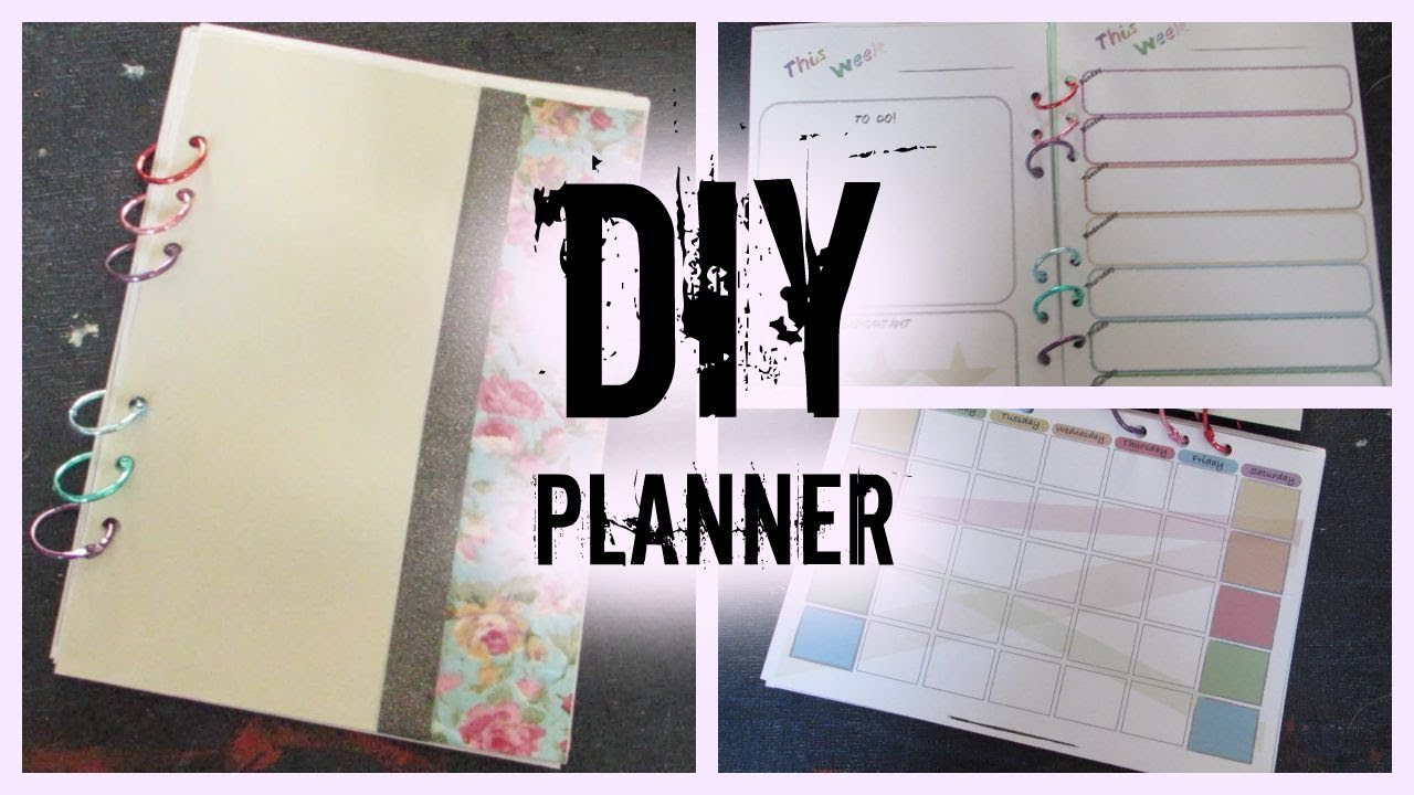 diy planner i how to make your own planner from scratch youtube. Black Bedroom Furniture Sets. Home Design Ideas
