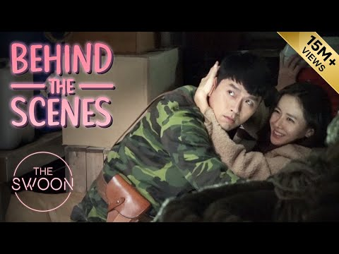 [Behind the Scenes] Hyun Bin & Son Ye-jin rehearse their first kiss | Crash Landing on You [ENG SUB]