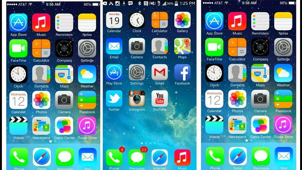 IPHONE launcher theme for iphone 8 plus 2018 - [urdu-hindi]