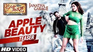 Download Hindi Video Songs - Janatha Garage Telugu Songs | Apple Beauty Song Trailer | Jr NTR | Samantha | Nithya Menen | DSP