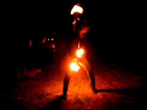 JaeCee Fire-Hoop @ Cougar Hot Springs.AVI