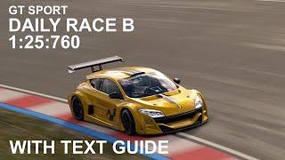 GT Sport - Daily Race Sardegna - Renault Megane Trophy Guide (read Description)