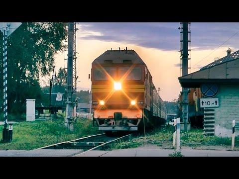 ТЭП70-0133 с поездом №350 С.Петербург - Костомукша, ст. Сортавала