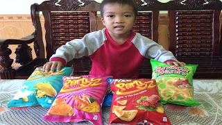 Learn Colors With Candy Poca, Oishi snack For Children, Green,  Red, Pink, Blue thumbnail
