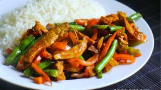 CHICKEN AND VEGGIE STIR FRY RECIPE