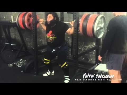 Very easy 350kg (770lbs) squat