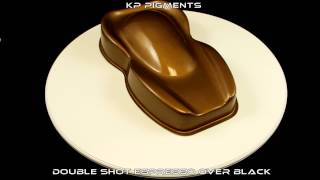 KP Pigments Double Shot Espresso Pearl over a Black PlastiDip Basecoat