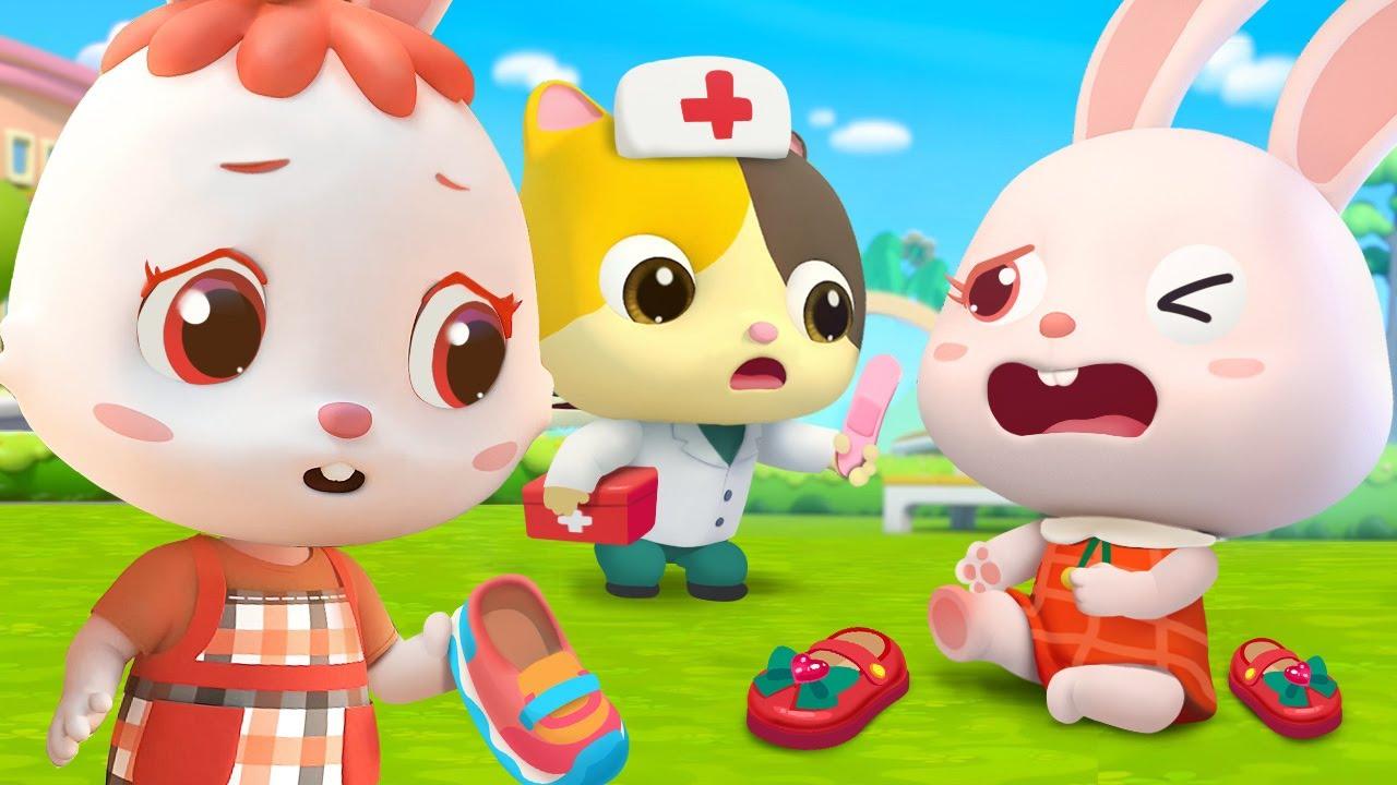 토끼모모가 발이 아파요 | 신발이 안 맞아요 | 감정동요 | 의사소통 | 누리과정 | 베이비버스 인기동요
