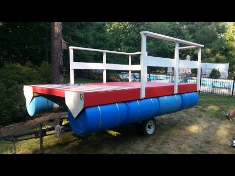 Homemade Pontoon Boat 4