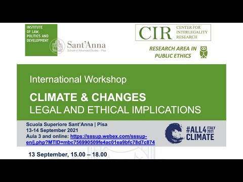 Climate & Change - Legal and Ethical Implications