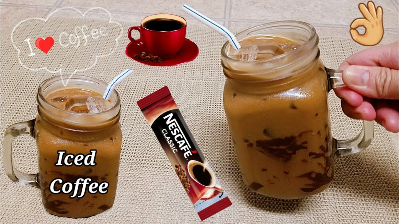 Very Simple Iced Coffee at Home! USING INSTANT COFFEE / Perfect inumin Ngayong Summer!