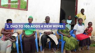 Ugandan father of 100 children marries four more wives | #NewsIn90