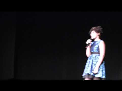 """""""I'd Rather Be Blind"""" Quynn Jones Five Forks Middle School Talent Show 2014"""