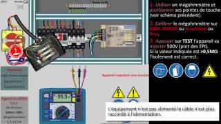 Mesure de l'isolement d'un câble à l'aide d'un Megohmmètre