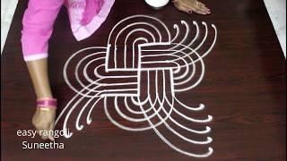 Easy n simple color marghazi/dhanurmasam muggulu designs || latest padi kolam || cute rangoli