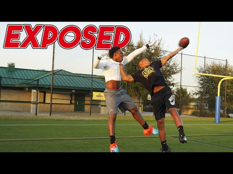 SOMEONE GOT EXPOSED! FOOTBALL 1 ON 1'S!