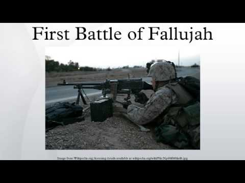First Battle of Fallujah