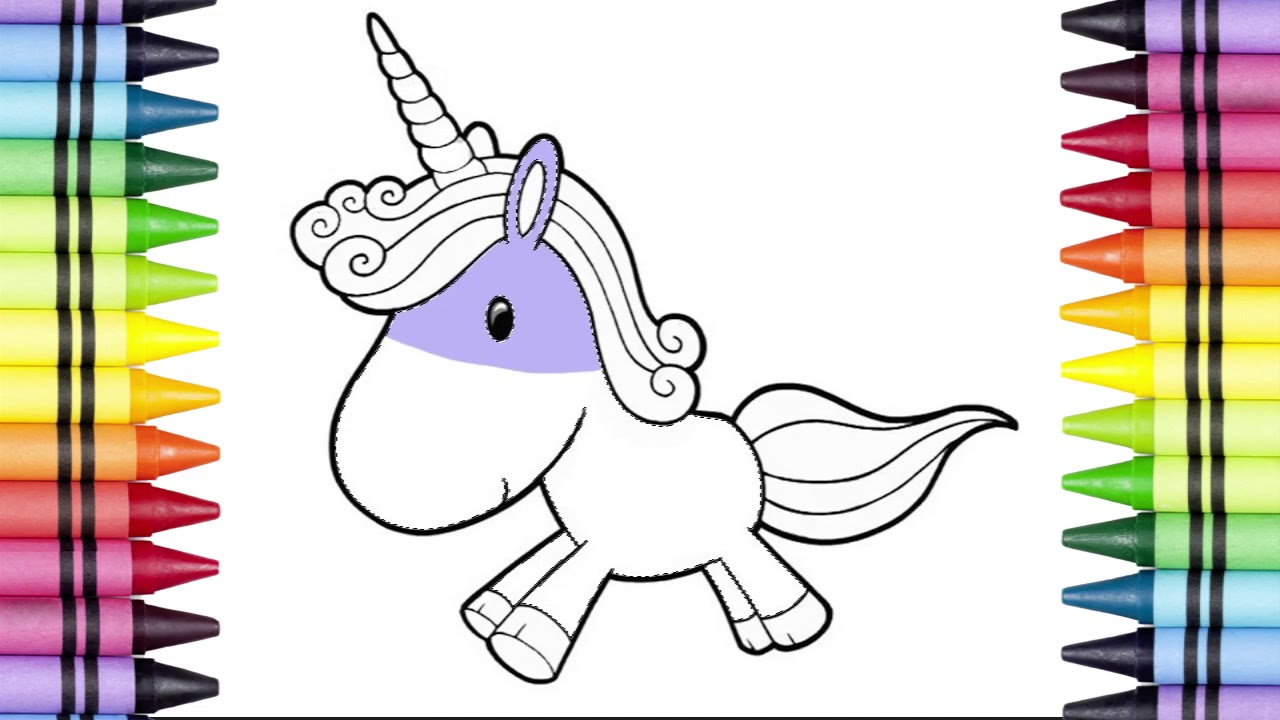 Little Cute Unicorn Coloring |Funny Coloring Pages for ...