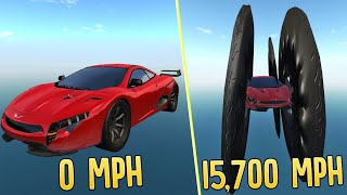 Driving A Car That Goes 15,900 MPH - Breaking The Laws of Physics With The Fastest Car In BeamNG