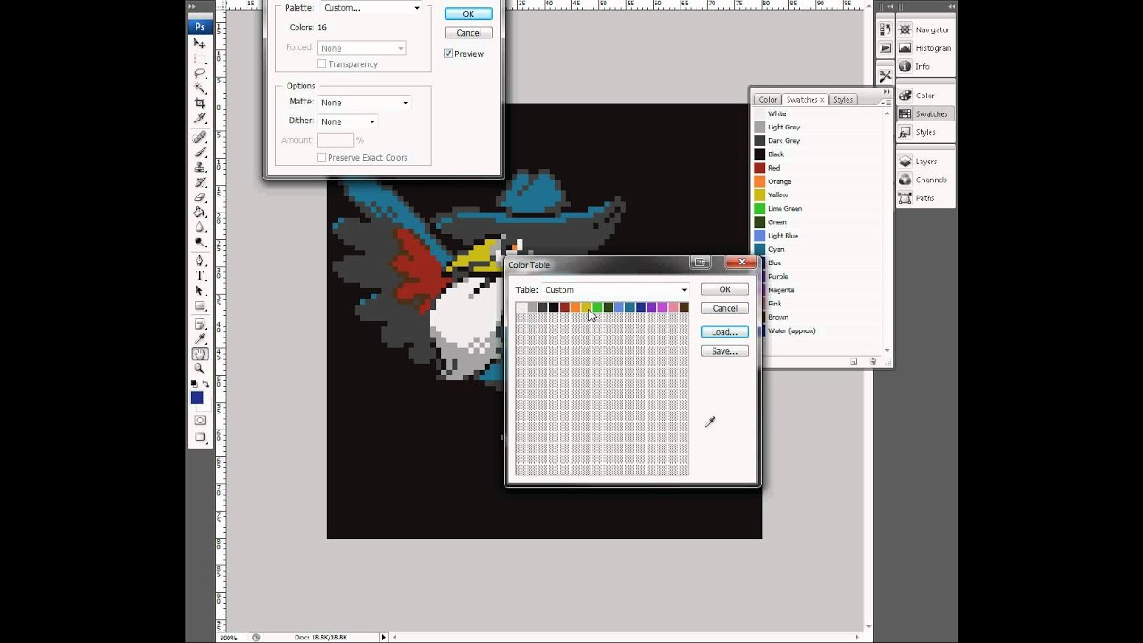 Posterizing images to a specific palette in Photoshop