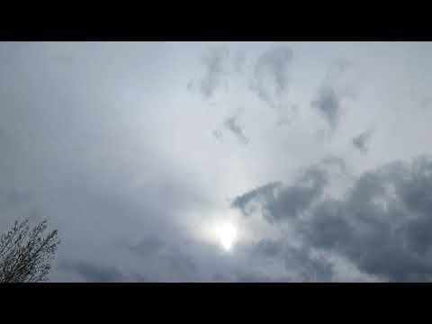 """3-21-2018 Ships... Black """"clouds"""" .. fake sun.. and rain.."""