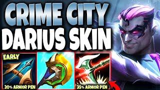 40+% Armor Pen EARLY Making Darius TOO OP 🔥 Crime City Nightmare Darius New Skin PBE Gameplay