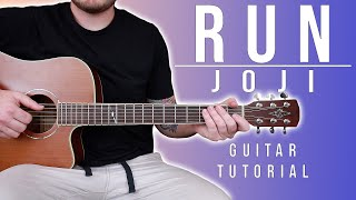 """Download How to Play """"Run"""" by Joji on Guitar for Beginners *CHORDS + TABS* Mp3 and Videos"""