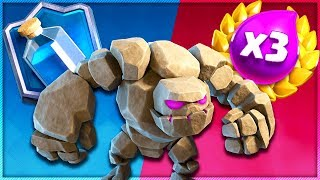 3X ELIXIR DECK vs PUMP LADDER DECK - Clash Royale Golem Decks