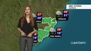 Previsão Grande Vitória - Risco de chuva forte
