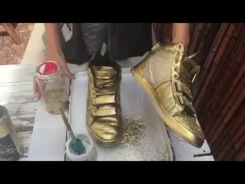 how to make your own golden shoes youtube. Black Bedroom Furniture Sets. Home Design Ideas