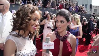 Chrystee Pharris & Lindsay Hartley @PopTV Interviewed at the 42nd Daytime Emmy Awards #DaytimeEmmys