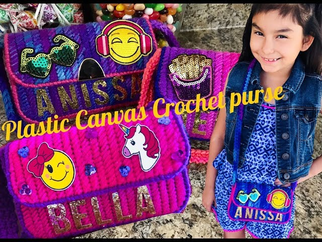 Crochet plastic canvas purse for little girls