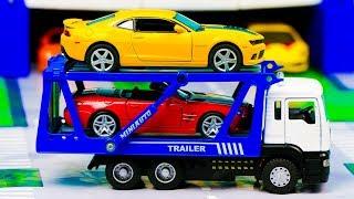 Мультфильм  про эвакуатор везет гоночную машину в автосалон 289 Серия Мир Машинок